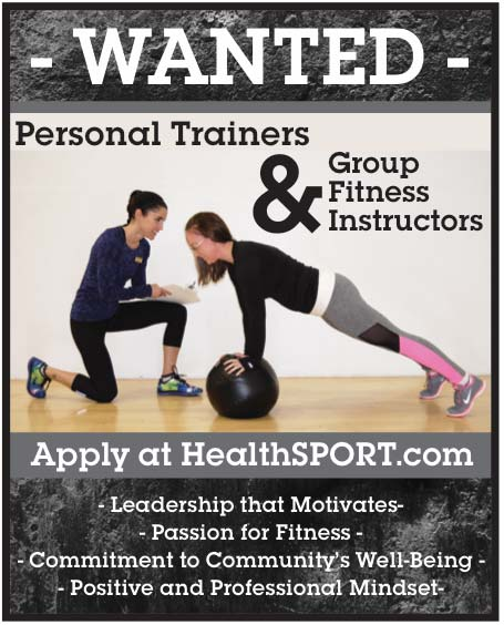 apply to be a personal trainer at health sport