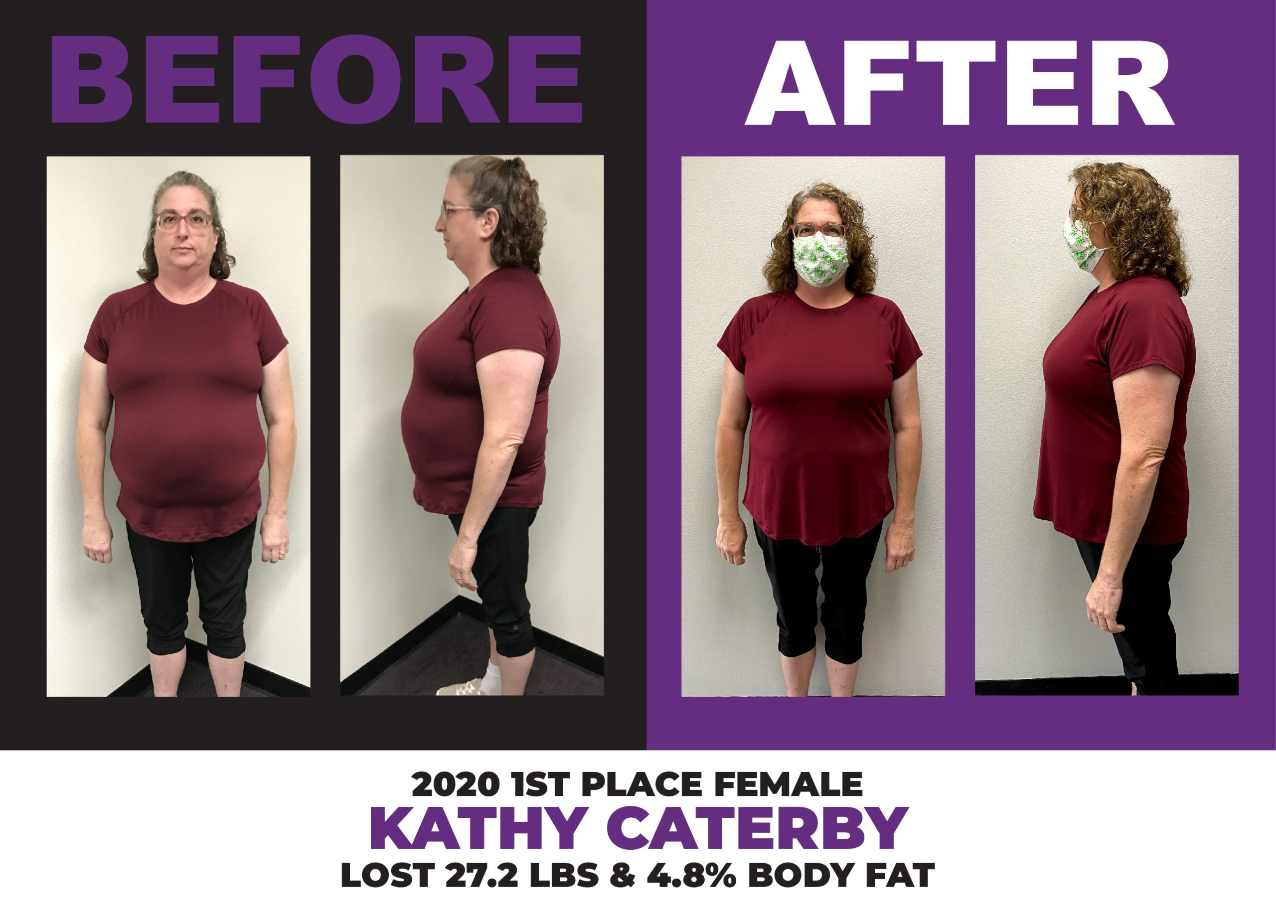 2020 Weight Loss Challenge 1st Place Female Winner